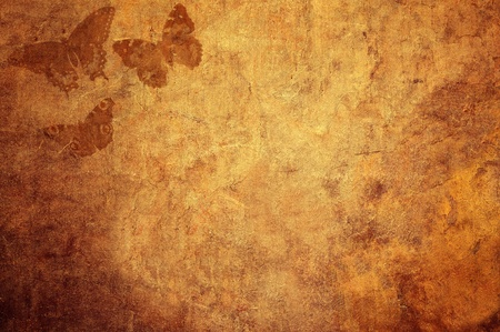 Vintage background texture with butterflies