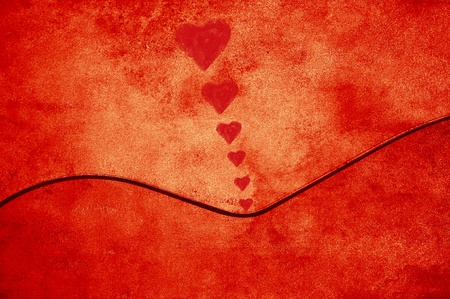 Red background texture with a feminine curve Stock Photo - 12880909