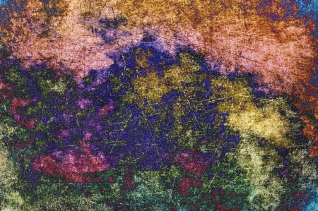 Abstract multicolored background texture with paint and scratches. Stock Photo - 14383173
