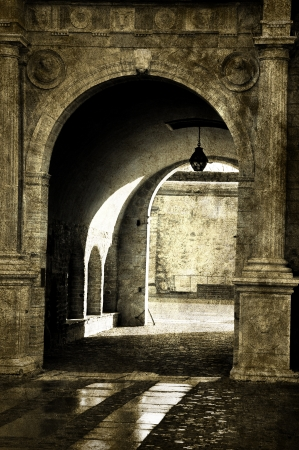Medieval archway of a castle in Vadstena Sweden Stock Photo - 17886224