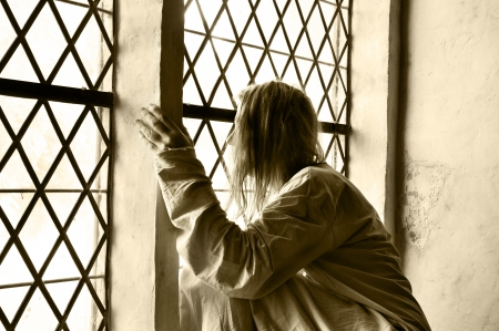 psychiatric: Woman locked up at a psychiatric ward