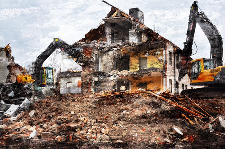 Artistic image of demolished buildings