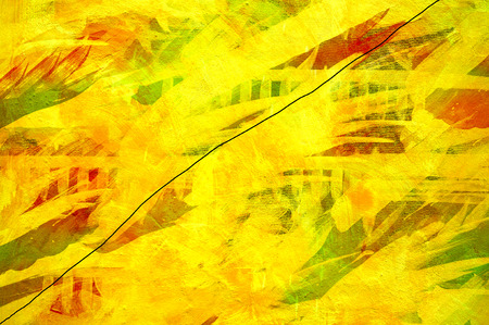 Yellow artwork on canvas digital art mixed with photography  photo