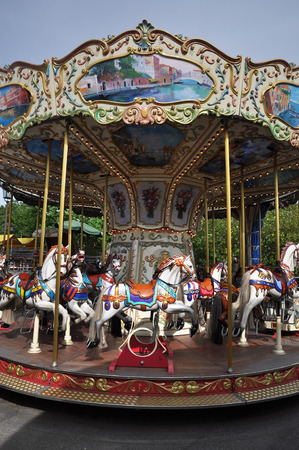 merry go round: Carousel, Merry go round at carnival.