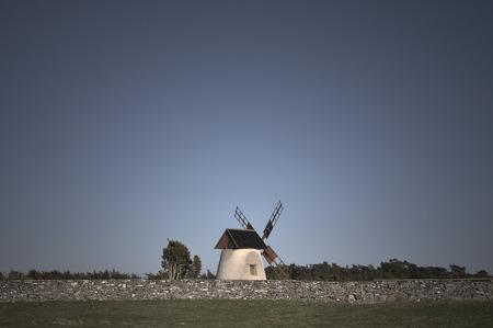 monochromatic: Windmill in spring monochromatic colors.