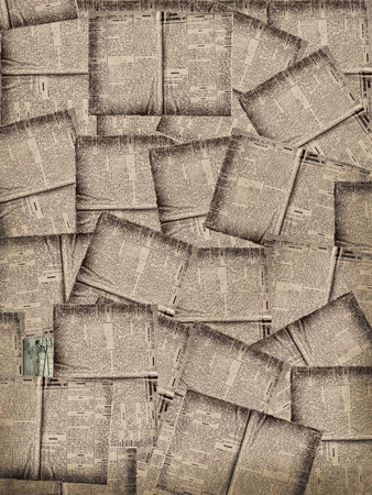 ephemera: Pages of swedish newspaper dated in 1926 as background Stock Photo