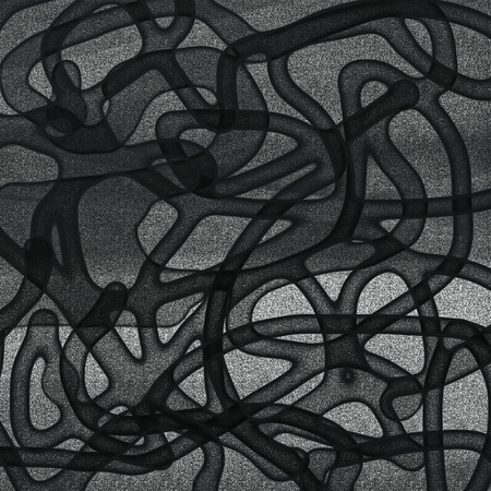 tangled: Tangled black and grey pattern rough texture. Stock Photo