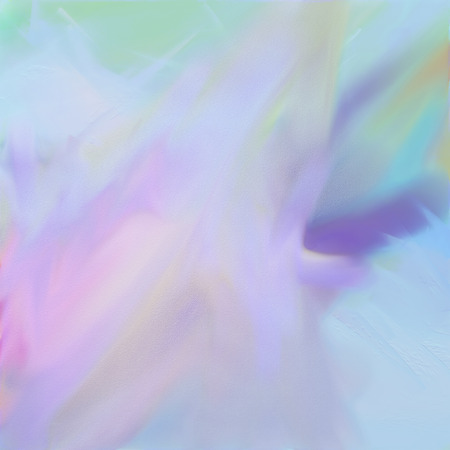 Digital watercolor abstract painting on paper in pale colors