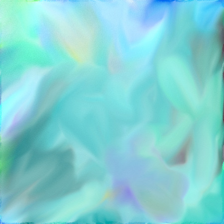 Abstract watercolor digital painting in blue tones.