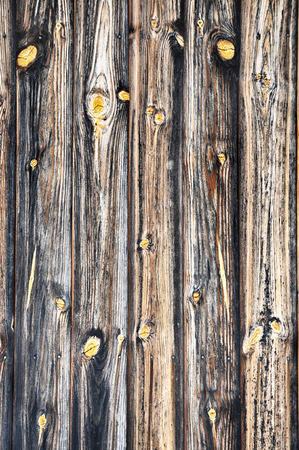 Closeup of brown wooden plank as background texture. Stock Photo
