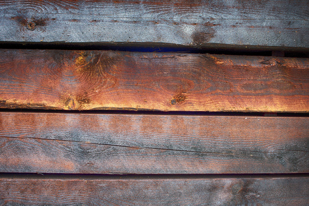 Colorful rough old timber in closeup as background.