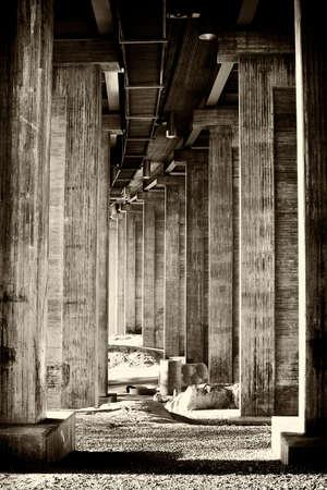 Classical segmental bridge from below in vintage style