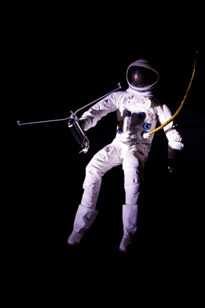 astronaut flying in outer space Stock Photo - 11260872