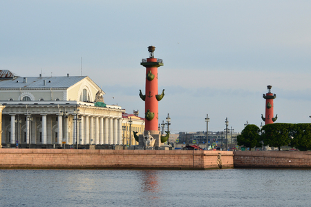 and st petersburg: Rostral columns. St. Petersburg. Editorial