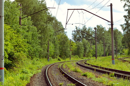 railroad tracks in the vicinity of St. Petersburg