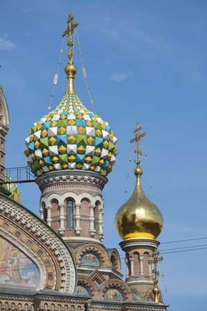 Dome of the Savior-on-the-Blood Cathedral Фото со стока