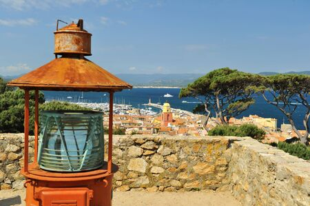 Sea view from Sant-Tropes hills Stock Photo