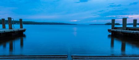 Pewaukee Lake Public Boat Launch at Sunrise