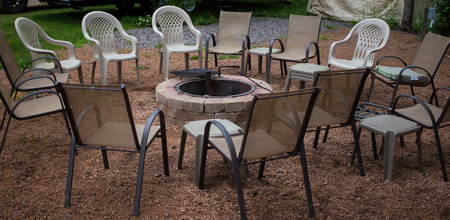 Circle of Chairs Around a Fire Ring