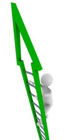 clambering: Green ladder of success