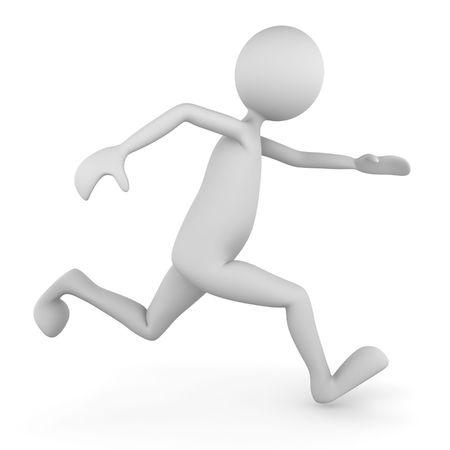 Running man; 3D render; 写真素材