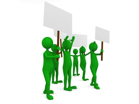 Environmental protestation with posters Stock Photo - 5549325