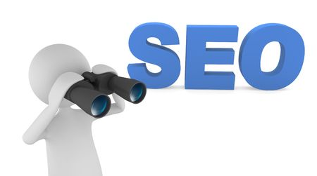 3D letters representing Search Engine Optimization (SEO) photo
