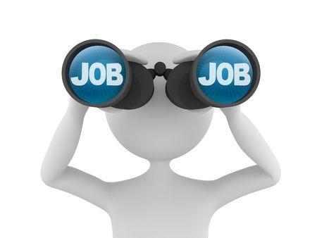 seek: Looking for Job Stock Photo