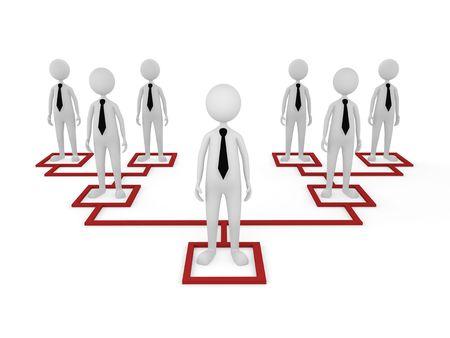 jerarquia: Concepto, que representa a los empleados de diferentes niveles; ideal para conceptos de estructura de negocio y organizaci�n.  Foto de archivo