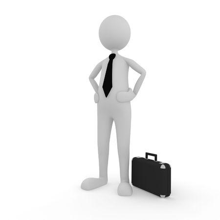 Confident Businessman; 3D render; Stock Photo