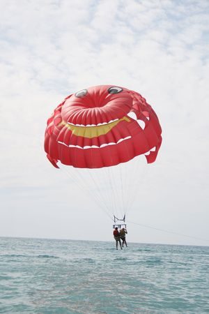 watersport: Parachute a nice watersport on a holiday