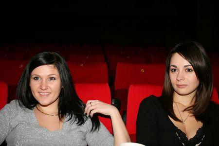 las niñas es en el cine Foto de archivo - 4089187