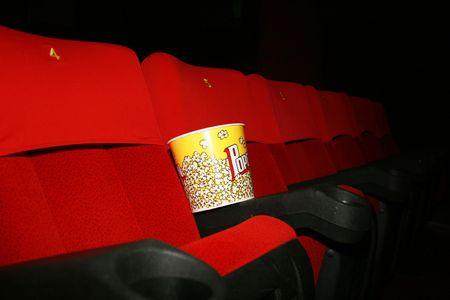 empty theatre auditorium cinema or conference hall. photo