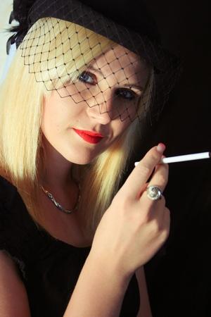 Retro Woman Portrait Vintage Style Stock Photo - 12377855