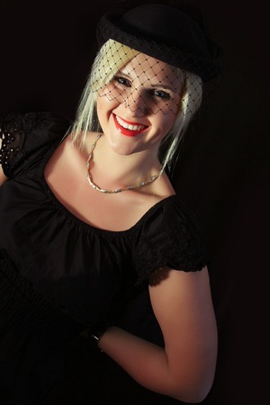 Retro Woman Portrait Vintage Style photo