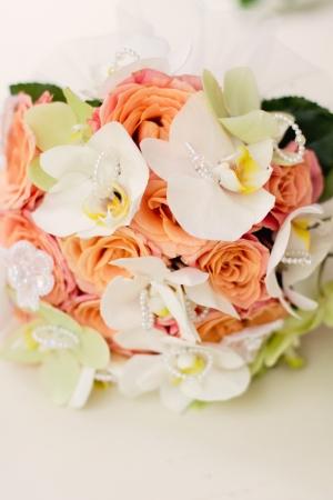 beautiful bouquett on wedding day photo