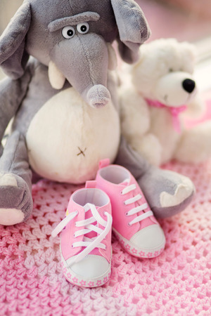 Baby girl shoes , new born girl shoes photo