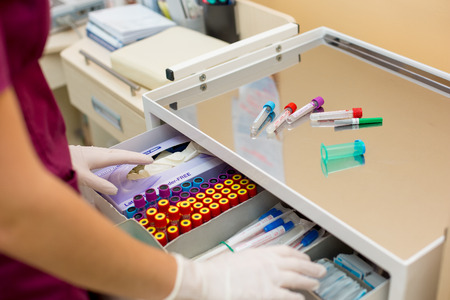 Medical test blood collection tube.