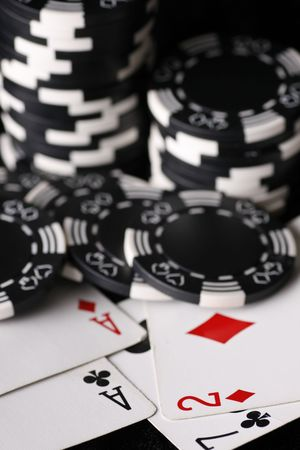 Worst and best poker cards Stock Photo - 4514980