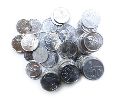Preview Save to a lightbox  Find Similar Images  Share  Edit Stock Photo: Rupiah coins on white background