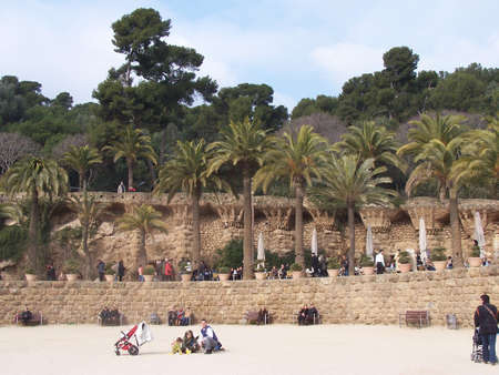 guell: Park Guell Stock Photo