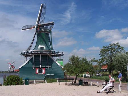 zaanse: Windmill in Zaanse Schans