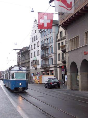 zurich: Street in Zurich Editorial
