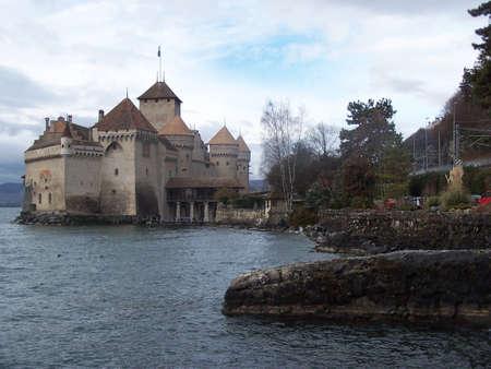 chillon: Ch�teau de Chillon Stock Photo