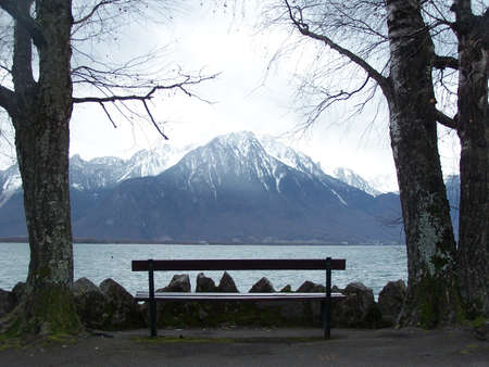 montreux: Montreux by The Lake Stock Photo