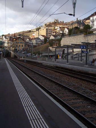 montreux: Montreux Railway Station Stock Photo