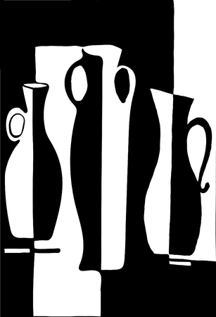balck: Balck and white decanter vector