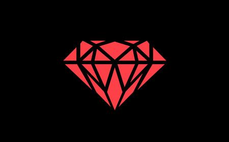 karat: Rainbow Diamond. Rainbow Icon. Rectangle and traingle in diamond. Colourful diamond. Bright diamond. Valentine diamond. Valentine gift Illustration