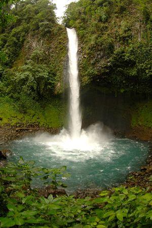 Waterfall in Costa Rica photo
