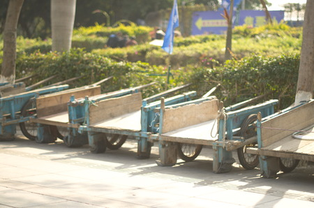the humanities landscape: Wooden wagon